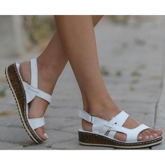 Sandalias con la punta abierta (blanco) ZAP00038C
