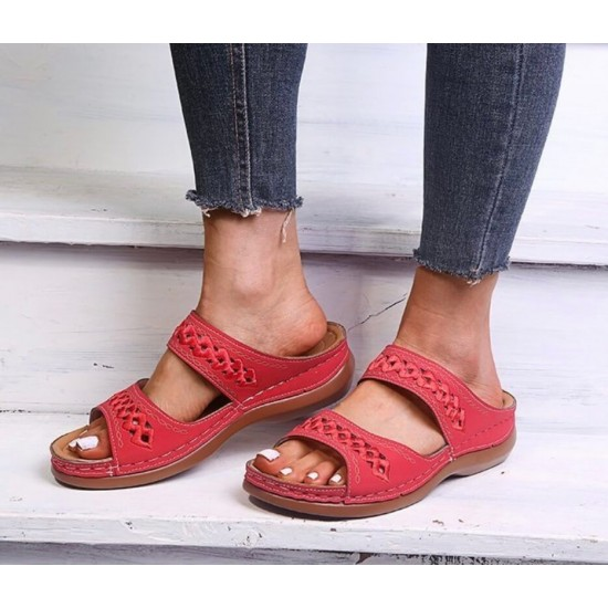 Sandalias de mujer (rojo) ZAP00042D