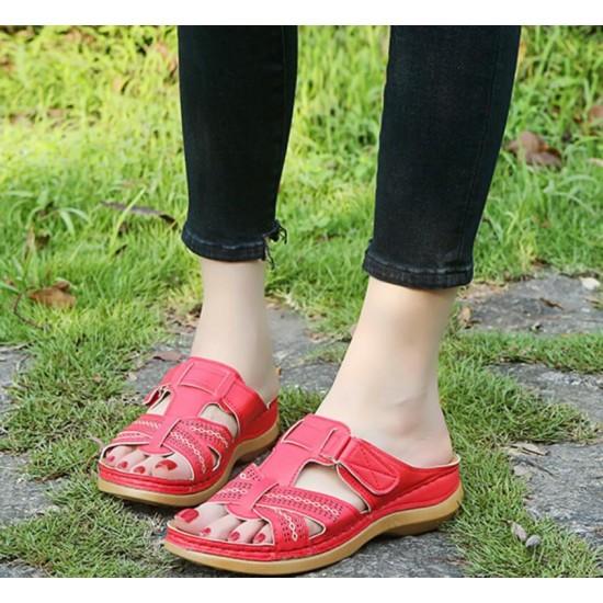 Sandalias ortopedicas de mujer con tacón de cuña abierto con puntera abierta ZAP00062A