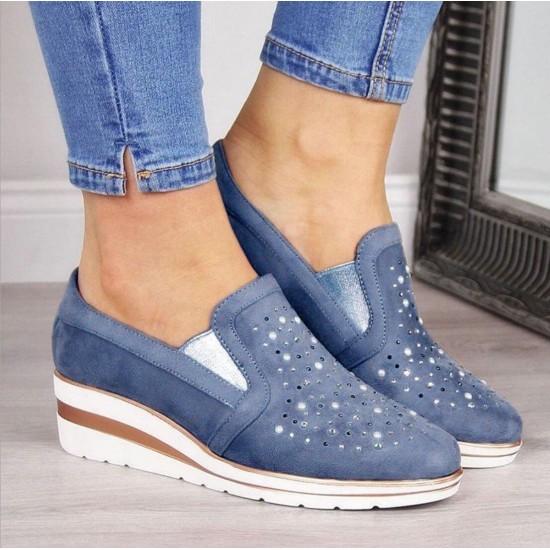 Zapato femenino de talón alto (azul) ZAP00039A