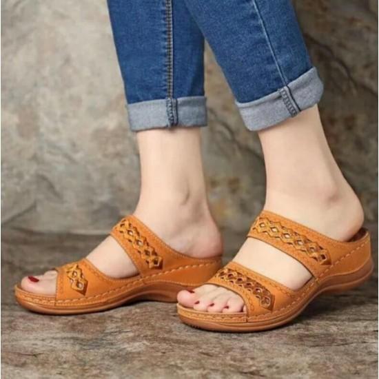 Sandalias de mujer (amarillo) ZAP00042E