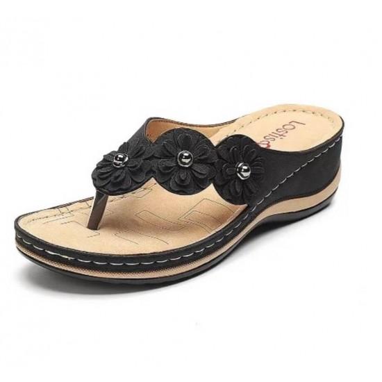 Sandalia ortopédicas (negro) ZAP00047A