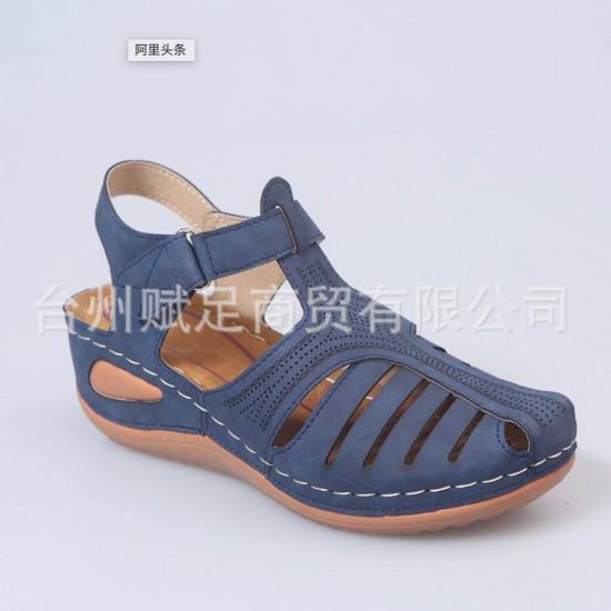Sandalias con la punta cerrada para mujer (azul) ZAP00043A