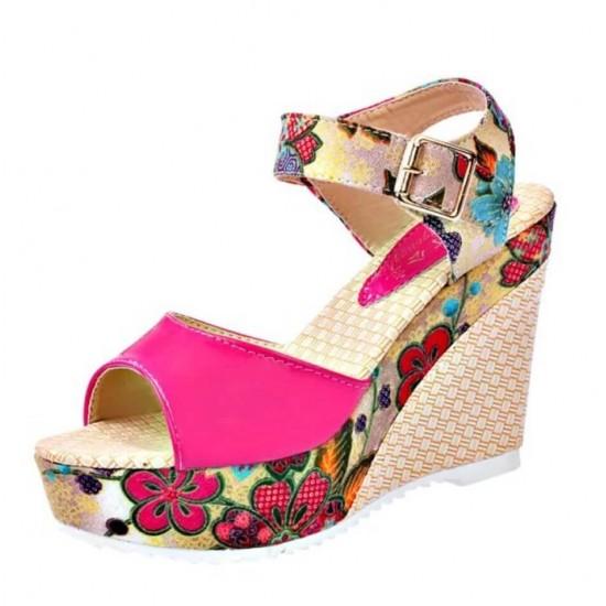 Sandalias para mujer con plataforma y punta abierta ZAP00015A