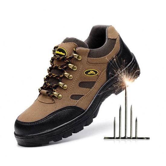 Zapatos de cuero, para trabajo, para senderismo con protección y suela antideslizante ZAP00024