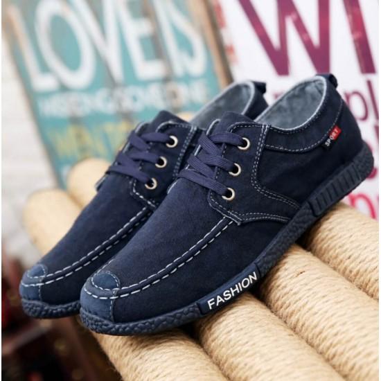 Zapatillas para hombre de denim estilo mocasín ZAP00010A