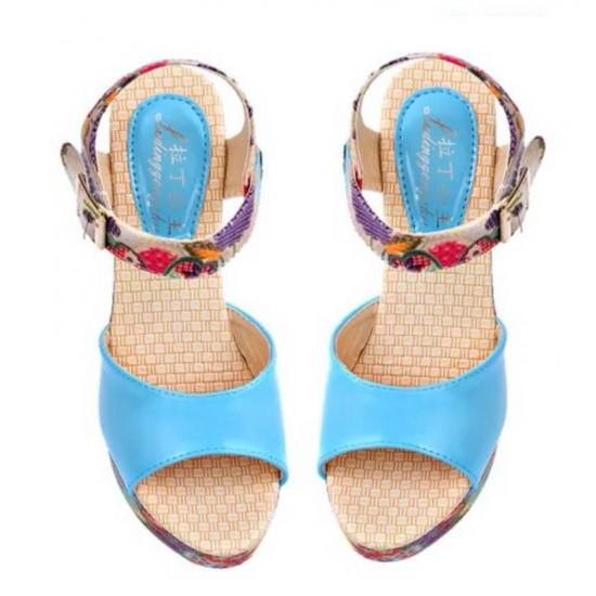Sandalias para mujer con plataforma y punta abierta ZAP00015B