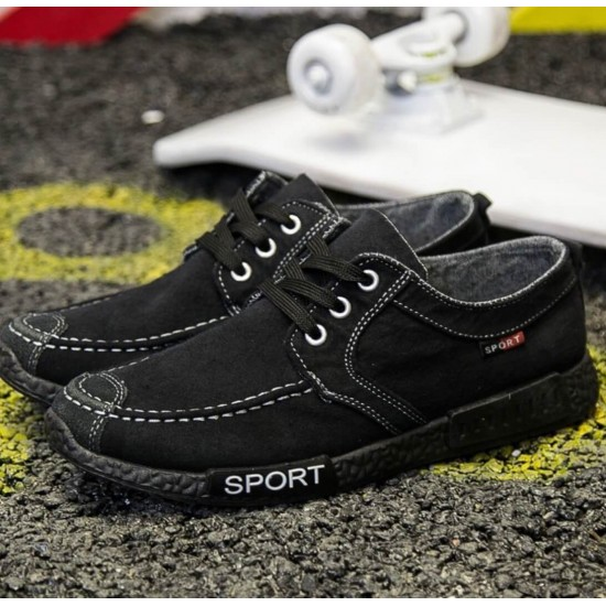 Zapatillas para hombre de denim estilo mocasín ZAP00010B