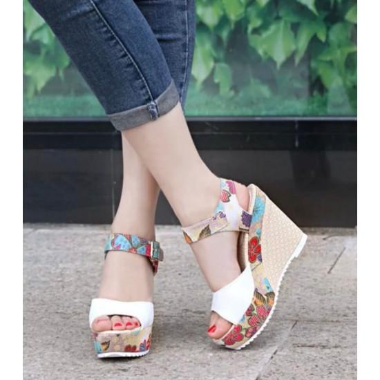 Sandalias para mujer con plataforma y punta abierta ZAP00015C