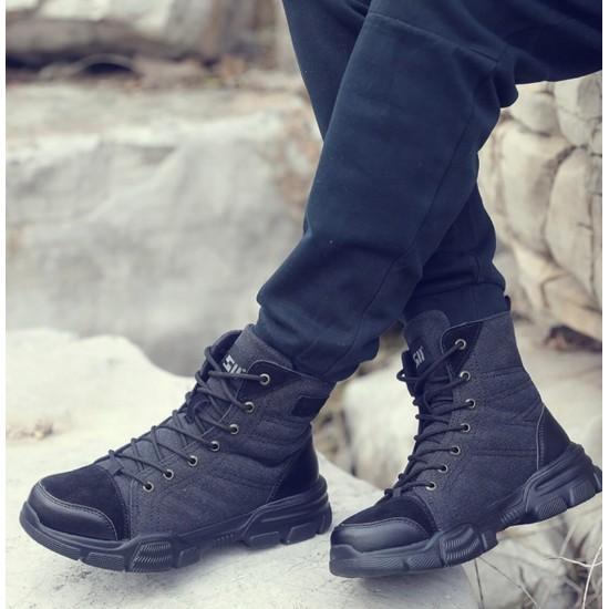 Zapatos de trabajo bota alta, suela antideslizante,protección extra ZAP00025B