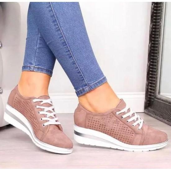Tenis de talon alto para mujer (rosado) ZAP00037C