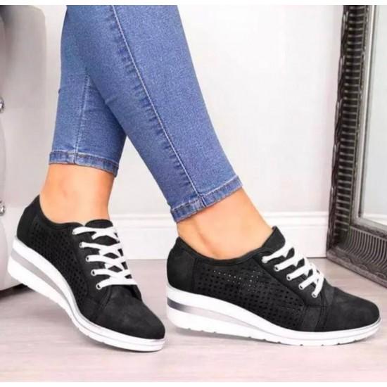 Tenis de talon alto para mujer(negro) ZAP00037D