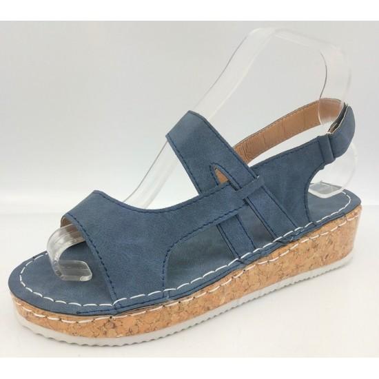 Sandalias con la punta abierta (azul) ZAP00038A