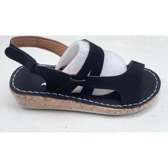 Sandalias con la punta abierta (negro) ZAP00038B
