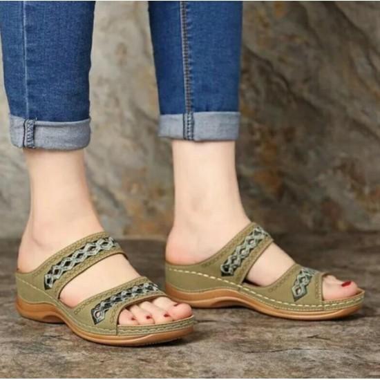 Sandalias de mujer (verde) ZAP00042C