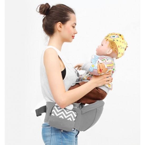 Portabebés plegable para cadera, correa ajustable y bolsillo lateral AUT00012