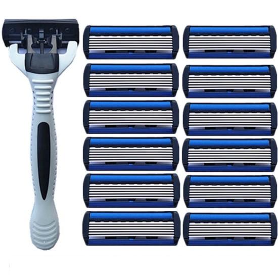 Juego de rasuradora con 12 cabezas de 6 hojas RAS00001