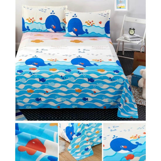 Ropa de cama, sábana y dos fundas SAB00005E
